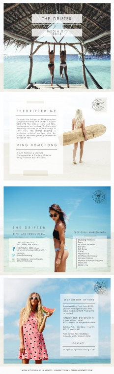 Travel Blogger PDF Media Kit Design on Inspirationde