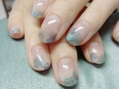 Nail Art: Watercolour Nails with Acrylic Paints on Inspirationde