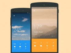 Material design weather app in Mobile UI Inspiration