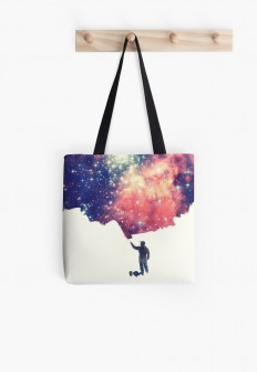 """Painting the universe"" Tote Bags by badbugs 
