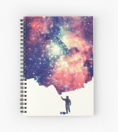 """Painting the universe"" Spiral Notebooks by badbugs 