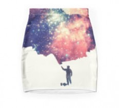 """Painting the universe"" Pencil Skirts by badbugs 