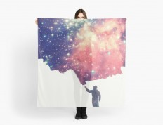"""Painting the universe"" Scarves by badbugs 