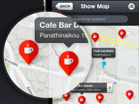 Dribbble - iOS App - Map Screen by Gert Tzafa