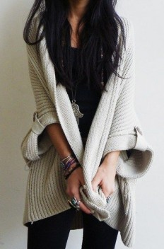 Cute knitted cardigan is must have this autumn. Latest fall arrivals 2015. on Inspirationde