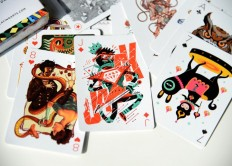 Beautiful Full-Color Deck of Playing Cards Illustrated by 55 Artists on Inspirationde