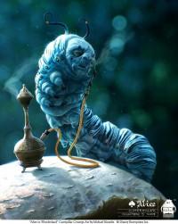 Michael Kutsche - Character Design/ Concept Art/ Illlustration - Alice - caterpillar_concept.jpg