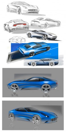 Touring Berlinetta Lusso - Design Sketches | Sketch | Pinterest