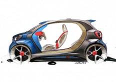 Smart Forjoy Concept Design Sketch | <Automotive - Sketching> | Pinterest