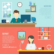 Office banners Vector | Free Download