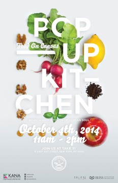 POP-UP KITCHEN: Food on Canvas on Inspirationde