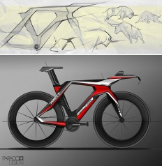 Time trial bike concept rendering by Lachezar Ivanov. | Bicycle Sketches ... and bikes | Pinterest