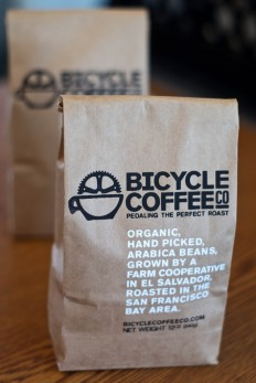 Screen-printed Bicycle Coffee bags, the third iteration on Inspirationde