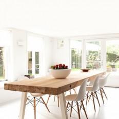 Maatwerk Tafel type Dani - Houtmerk.nl - Massieve houten bladen en panelen in elke afmeting! | For your Home | Pinterest