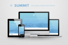 Summit - one page responsive theme ~ Website Templates on Creative Market