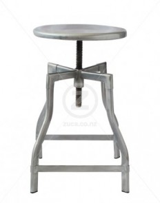 French Industrial Stool - Galvanised | ZUCA | Homeware, Chairs, Replica Furniture, Barstools & Office Furniture in Wellington, New Zealand