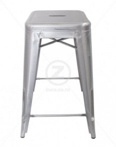 Replica Tolix Stool 65cm Premium - Galvanised | ZUCA | Homeware, Chairs, Replica Furniture, Barstools & Office Furniture in Wellington, New Zealand