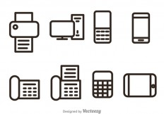 Office And Bussiness Outline Vector Icons - Download Free Vector Art, Stock Graphics & Images