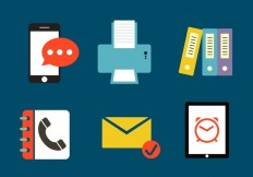 Set of Various Office Icons - Download Free Vector Art, Stock Graphics & Images