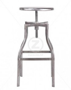 French Industrial Stool Tall – Galvanised | ZUCA | Homeware, Chairs, Replica Furniture, Barstools & Office Furniture in Wellington, New Zealand