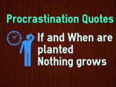 Procrastination Quotes about Laziness and on Productivity