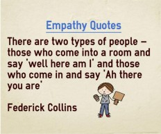 Empathy quotes on here am i and there you are
