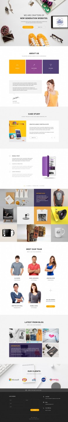 Home Page – Web Design Agency on Inspirationde