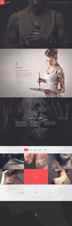 Tattoo Studio Website on Inspirationde