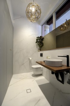 The Block Glasshouse: Staircase, laundry & powder room reveals - The Interiors Addict