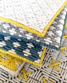 Beautiful Harmony of Colours and Textures at Charlotte Lancelot Poufs - InteriorZine