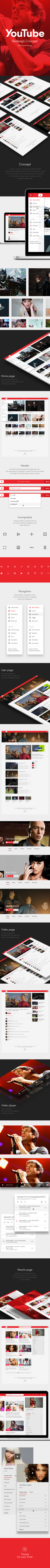 YouTube Redesign Concept on