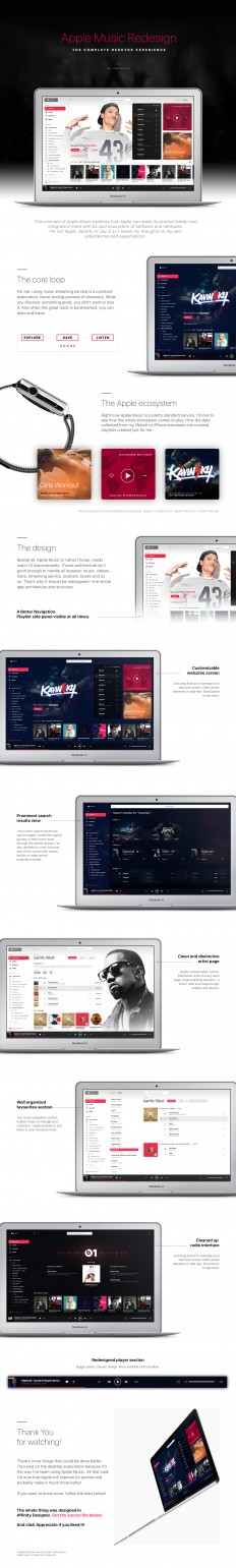 Apple Music Redesign concept on