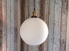 Mr Ralph - Glass Cafe Pendant - Milky white, Pendants