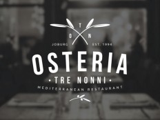Osteria Tre Nonni – Logo Design by Angus Ewing on Inspirationde