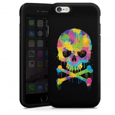 Skull Watercolour für Tough Case (black) für Apple iPhone 6 von DeinDesign™