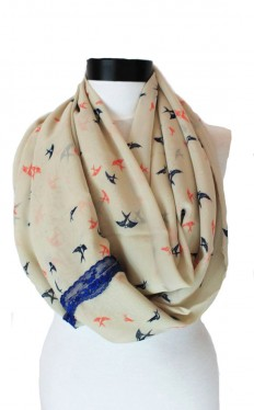 birds lace scarfinfinity scarf scarf scarves by lumbaaccessories