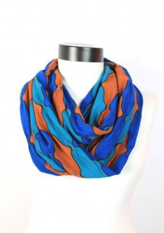 blue bow scarfinfinity scarf scarf scarves by lumbaaccessories