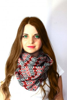 red winter mesh infinity scarf scarf scarves by lumbaaccessories