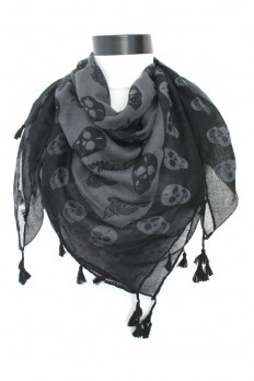 skull scarf scarf scarves giftgrey scarf by lumbaaccessories
