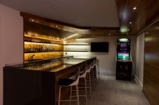 milton basement fit-out - Modern - Home Bar - boston - by BHaley Design+Build