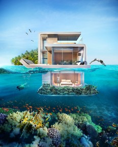 Live Underwater in The Floating Seahorse Luxury Houseboats on Inspirationde