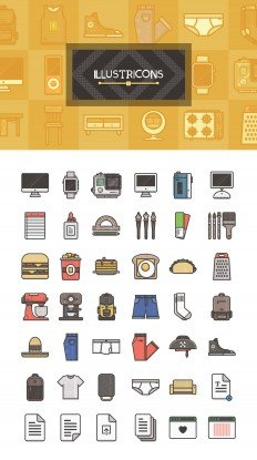 Free download: 40 Illustricons icons | Webdesigner Depot