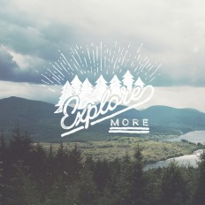Explore more, lettering by Christmas Shiveley on Inspirationde
