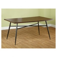 Milo Mixed Media Dining Table - Black/Wood : Target