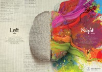 "Mercedes Benz: Left Brain - Right Brain, Paint | Ads of the Worldâ""¢"