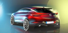 2016 Opel Astra - Design Sketch - Car Body Design