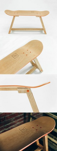 "SerialThriller™ — ""The Wood one"" - Skateboard Furniture by Baked /..."