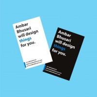 Ambar Bhusari_Visiting Card - Business Cards - Creattica