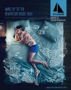 Crusoe Men's Innerwear Campaign on Inspirationde