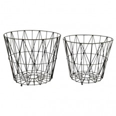 Charcoal Wire Storage Basket | Flux Boutique
